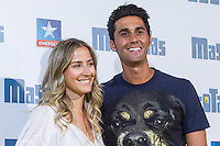 Spanish football player Albaro Arbeloa with his wife Carlota Ruiz during the premiere of  Mascotas at Kinepolis cinema in Madrid. July 21, 2016. (ALTERPHOTOS/Rodrigo Jimenez) /NORTEPHOTO.COM