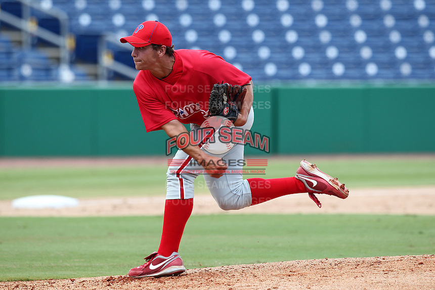 Philadelphia Phillies pitcher Colton Murray #37 during an Instructional League game against the  Detroit Tigers at Bright House Networks Field on October 10, 2011 in Clearwater, Florida.  (Mike Janes/Four Seam Images)