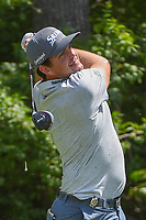 Keegan Bradley (USA) watches his tee shot on 9 during 3rd round of the 100th PGA Championship at Bellerive Country Club, St. Louis, Missouri. 8/11/2018.<br /> Picture: Golffile | Ken Murray<br /> <br /> All photo usage must carry mandatory copyright credit (&copy; Golffile | Ken Murray)