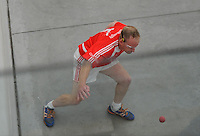 20th September 2014; <br /> Dale Cusack, Cork<br /> M Donnelly All-Ireland Mens Over-35 60x30 Handball Singes Final<br /> Dale Cusack (Cork) v Conor O'Connor (Meath)<br /> Abbeylara, Co Longford<br /> Picture credit: Tommy Grealy/actionshots.ie