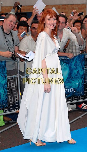 "BRYCE DALLAS HOWARD.""Lady In The Water"" - UK film Premiere, Vue West End, London, UK..August 8th, 2006.Ref: CAN.full length white dress pregnant.www.capitalpictures.com.sales@capitalpictures.com.©Can Nguyen/Capital Pictures"