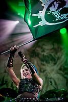 Arch Enemy paa Hades. Copenhell 2018 p&aring; Refshale&oslash;en i K&oslash;benhavn. Fire dage med rock, metal og dedikerede fans.<br /> <br /> Copenhell 2018 on Refshale Island in Copenhagen. Four days of rock, metal and dedicated fans.<br /> <br /> Foto: Jens Panduro<br /> <br /> Copenhagen, Copenhell, musikfestival, festival, musik, rockmusik, metal, hardcore, thrashmetal, punk, punkrock, metalcore, Refshale&oslash;en, Reffen, koncerter, rockkoncerter., Music Festival, Music, Rock Music, Thrash Metal, Refshale Island, Concerts, Rock Concerts.