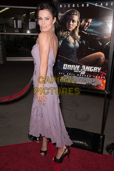 "SIMONA WILLIAMS .""Drive Angry"" Los Angeles Red Carpet Screening held at the ArcLight Hollywood Cinemas,  Hollywood, California, USA, 22nd February 2011..full length purple lilac dress long side over shoulder beaded black peep toe shoes .CAP/ADM/JS.©Jay Steine/AdMedia/Capital Pictures.."