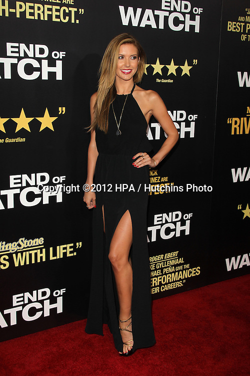 """LOS ANGELES - SEP 17:  Audrina Patridge arrives at the """"End Of Watch"""" Premiere at Regal Cinemas L.A. Live on September 17, 2012 in Los Angeles, CA"""