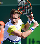 March 28 2017: Nicolas Mahut (FRA) loses to Rafael Nadal (ESP) 6-4, 7-6, at the Miami Open being played at Crandon Park Tennis Center in Miami, Key Biscayne, Florida. ©Karla Kinne/Tennisclix/Cal Sports Media