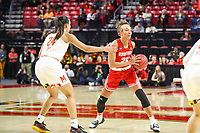 College Park, MD - March 23, 2019: Radford Highlanders forward Lydia Rivers (20) passes the ball during game between Radford and Maryland at  Xfinity Center in College Park, MD.  (Photo by Elliott Brown/Media Images International)