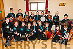 Lixnaw Feile Cheoil : Taking part in the Lixnaw Feile Cheoil held at the Diarmuid O'Cathain Cultural Centre in Lixnaw on Saturday & Sunday last were the Ceoiltoiri Na Ceolan Ceile Band pictured prior to their concert on Saturday night.