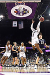 COLUMBUS, OH - APRIL 1: Roshunda Johnson #11 of the Mississippi State Bulldogs shoots past Jessica Shepard #23 of the Notre Dame Fighting Irish during the championship game of the 2018 NCAA Division I Women's Basketball Final Four at Nationwide Arena in Columbus, Ohio. (Photo by Justin Tafoya/NCAA Photos via Getty Images)