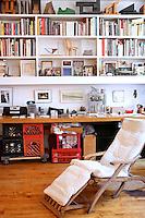 minimal wooden bookcase