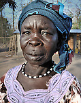 A woman in the Southern Sudan village of Yondoru. Families here are rebuilding their lives after returning from refuge in Uganda in 2006 following the 2005 Comprehensive Peace Agreement between the north and south. NOTE: In July 2011, Southern Sudan became the independent country of South Sudan