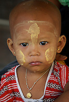 Child in the streets of  Hpa An, Myanmar, Burma
