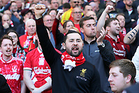 Liverpool fans show their appreciation at the final whistle<br /> <br /> Photographer Rich Linley/CameraSport<br /> <br /> The Premier League - Liverpool v Wolverhampton Wanderers - Sunday 12th May 2019 - Anfield - Liverpool<br /> <br /> World Copyright © 2019 CameraSport. All rights reserved. 43 Linden Ave. Countesthorpe. Leicester. England. LE8 5PG - Tel: +44 (0) 116 277 4147 - admin@camerasport.com - www.camerasport.com
