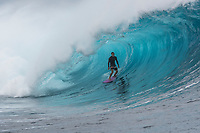Namotu Island Resort, Nadi, Fiji (Monday, May 22 2017): Jarrod White (AUS) - The wind  this morning was light from the South South East with high tide around 3.30pm.  The swell had jumped overnight and continued to build through the day. Cloudbreak had 10' plus faces and was barreling through the inside ,especially around the 9.30 low tide. A big group of pro surfers, both male and female, were surfing Cloudbreak in preparation for the OK Fiji Pro which begins on Saturday. Guests surfed Cloudbreak and Lefts.   The fishing crew returned with a catch of Ruby Snapper. Photo: joliphotos.com