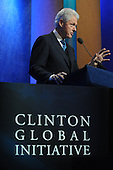 Former United States President Bill Clinton speaks at the Clinton Global Initiative (CGI) in New York, New York, USA, Thursday, 23 September 2010. The commitment of CGI members has improved the lives of more than 220 million people in 170 countries, according to President Bill Clinton.  The 2010 meeting features a session on 'Peace and Beyond in the Middle East'.  .Credit: Michael Reynolds - Pool via CNP.Credit: Michael Reynolds - Pool via CNP