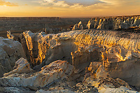 Coal Mine Canyon at sunset, near Tuba City, Arizona, part of the Moenkopi Wash.  Sits  between the Navajo and Hopi Reservations