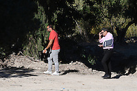 "FAO JANET TOMLINSON, DAILY MAIL <br /> Pictured: Stefanos Troumouhis (L) the owner of the field where special forensics police officers search in Kos, Greece. Friday 30 September 2016<br /> Re: Police teams searching for missing toddler Ben Needham on the Greek island of Kos have said they are ""optimistic"" about new excavation work.<br /> Ben, from Sheffield, was 21 months old when he disappeared on 24 July 1991 during a family holiday.<br /> Digging has begun at a new site after a fresh line of inquiry suggested he could have been crushed by a digger.<br /> South Yorkshire Police (SYP) said it continued to keep an ""open mind"" about what happened to Ben."
