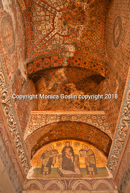 South Western entrance mosaic dating back to the 11th century; Hagia Sophia