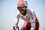 Natnael Berhane (ERI) Cofidis in action during Stage 13 of the 2019 Tour de France an individual time trial running 27.2km from Pau to Pau, France. 19th July 2019.<br /> Picture: ASO/Pauline Ballet | Cyclefile<br /> All photos usage must carry mandatory copyright credit (© Cyclefile | ASO/Pauline Ballet)