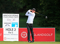 Josh Hilleard (AM)(ENG) on the 2nd tee during Round 1 of the Bridgestone Challenge 2017 at the Luton Hoo Hotel Golf &amp; Spa, Luton, Bedfordshire, England. 07/09/2017<br /> Picture: Golffile | Thos Caffrey<br /> <br /> <br /> All photo usage must carry mandatory copyright credit     (&copy; Golffile | Thos Caffrey)
