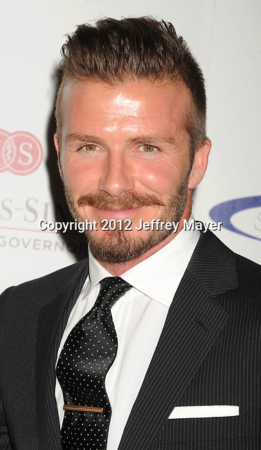 wwCENTURY CITY, CA - MAY 20: David Beckham  arrives at the 27th Anniversary of Sports Spectacular at the Hyatt Regency Century Plaza on May 20, 2012 in Century City, California. (Photo by Jeffrey Mayer/WireImage) *** Local caption *** David Beckham