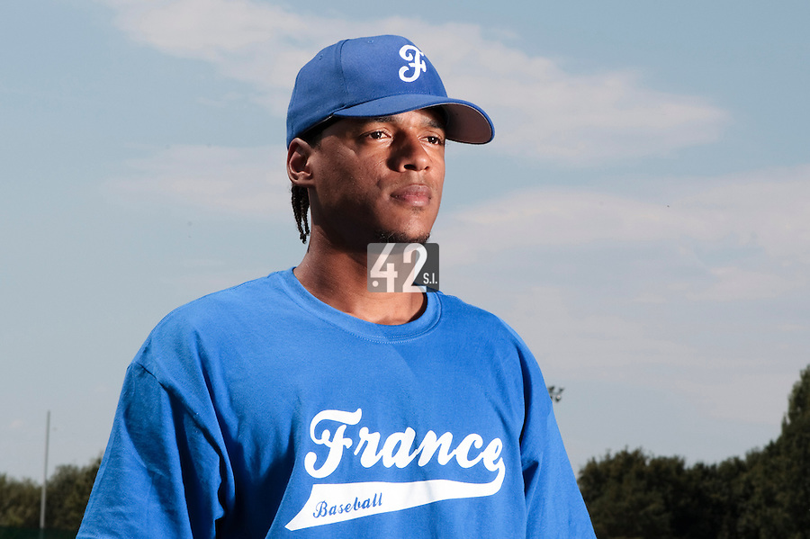 21 july 2010: Arold Castillo of Team France is seen during a practice prior to the 2010 European Championship Seniors, in Neuenburg, Germany.