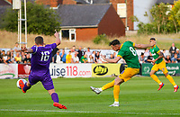 Preston North End's Alan Browne scores the opening goal <br /> <br /> Photographer Alex Dodd/CameraSport<br /> <br /> Football Pre-Season Friendly - Chorley v Preston North End - Tuesday July 16th 2019  - Victory Park - Chorley<br /> <br /> World Copyright © 2019 CameraSport. All rights reserved. 43 Linden Ave. Countesthorpe. Leicester. England. LE8 5PG - Tel: +44 (0) 116 277 4147 - admin@camerasport.com - www.camerasport.com