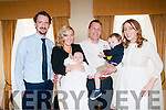 Baby Jess son of Angela Ryan Whyte & Ray Whyte who was christened in St, Michael's Church, Lixnaw by Fr. Mossie Brick, PP , Lixnaw on Saturday last and afterwards at the Listowel Arms Hotel. God parents were Austin Whyte & Aoife Shanahan.