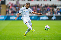 Wayne Routledge in action during the Premier League match between Swansea City and Hull City at the Liberty Stadium, Swansea on Saturday August 20th 2016