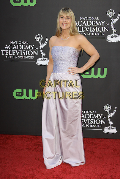 TERRI IRWIN.36th Annual Daytime Emmy Awards held At The Orpheum Theatre, Los Angeles, California, USA..August 30th, 2009.emmys full length strapless lilac purple long maxi gown dress hand on hip.CAP/ADM/KB.©Kevan Brooks/AdMedia/Capital Pictures.