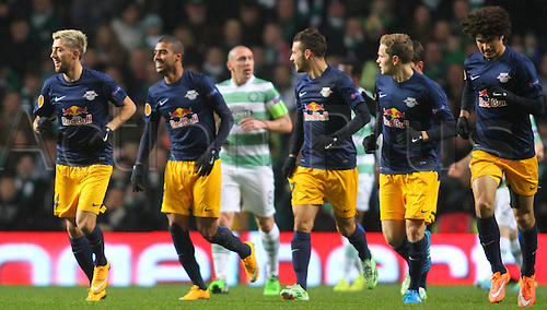 27.11.2014. Glasgow, Scotland. Europa League Group Stages Qualifying Round. Celtic versus FC Red Bull Salzburg. Alan celebrates his goal to make it 2-0