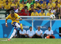 Brazil's Neymar takes Free Kick for Goal