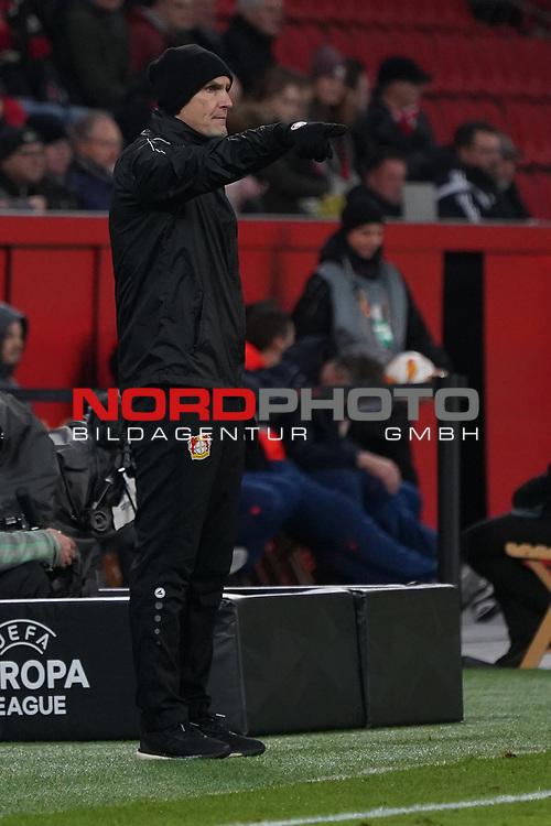 29.11.2018, BayArena, Leverkusen, Europaleque, Vorrunde, GER, UEFA EL, Bayer 04 Leverkusen (GER) vs. Ludogorez Rasgrad (BUL),<br />  <br /> DFL regulations prohibit any use of photographs as image sequences and/or quasi-video<br /> <br /> im Bild / picture shows: <br /> Heiko Herrlich Trainer (Bayer Leverkusen),<br /> <br /> Foto © nordphoto / Meuter<br /> <br /> <br /> <br /> Foto © nordphoto / Meuter