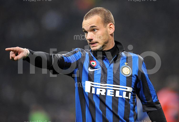 FUSSBALL   CHAMPIONS LEAGUE   SAISON 2011/2012   13.03.2012 Inter Mailand - Olympique Marseille Wesley Sneijder (Inter Mailand)