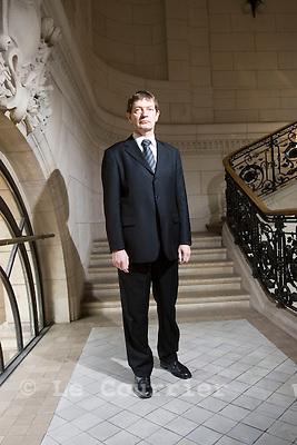 Genève, le 11.02.2008.François Paychère, président du tribunal administratif..© Le Courrier / J.-P. Di Silvestro