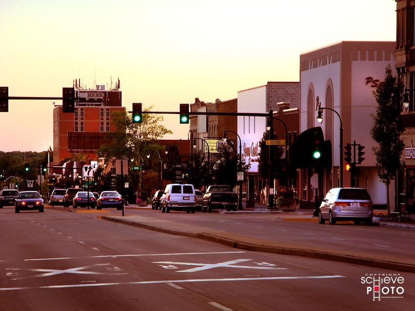 Downtown Marshfield, Wisconsin.