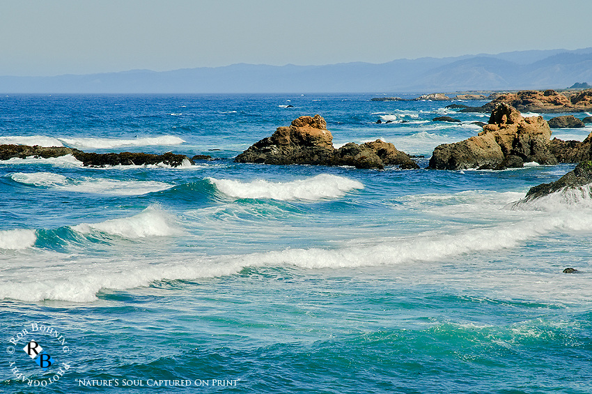 The beautiful clear waters of the Fort Bragg coastline in Mendocino County