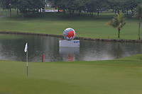 Water feature beside the 3rd green during the Saturday Foursomes of the Eurasia Cup at Glenmarie Golf and Country Club on the 13th January 2018.<br /> Picture:  Thos Caffrey / www.golffile.ie