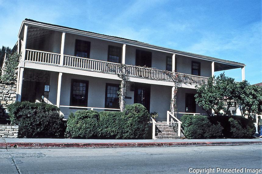 Larkin House, 464 Calle Principal, Monterey. Built in 1835.