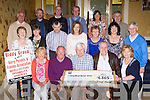Fossa Biddy group who presented a cheque to Kerry Hospice in the Holiday Inn Killarney on Friday night front row l-r: Noreen Casey, Paul Cremin, Pat Moriarty, John Coffey, Kathleen  Moriarty. Middle row: Mary Kissane, Nuala O'Doherty, Tom Brosnan, Julie Talbot, Nora Moriarty, Eileen Scully, Tim Moriarty. Back row: Tim Kissane, Donie Doherty, Paudie Kissane, Phil Hannafin, Sarah Griffin and Noel Lacey