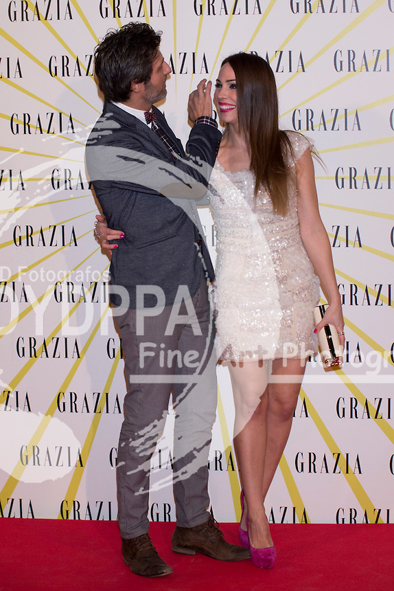 12.02.2013. Circo Price. Madrid. Spain. Celebrities attend the Party for the new magazine 'Grazia'. In the image: Jesus Olmedo and Nerea Garmendia. (C) Ivan L. Naughty / DyD Fotografos//