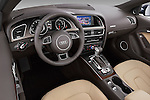 High angle dashboard view of a 2013 Audi A5 Convertible