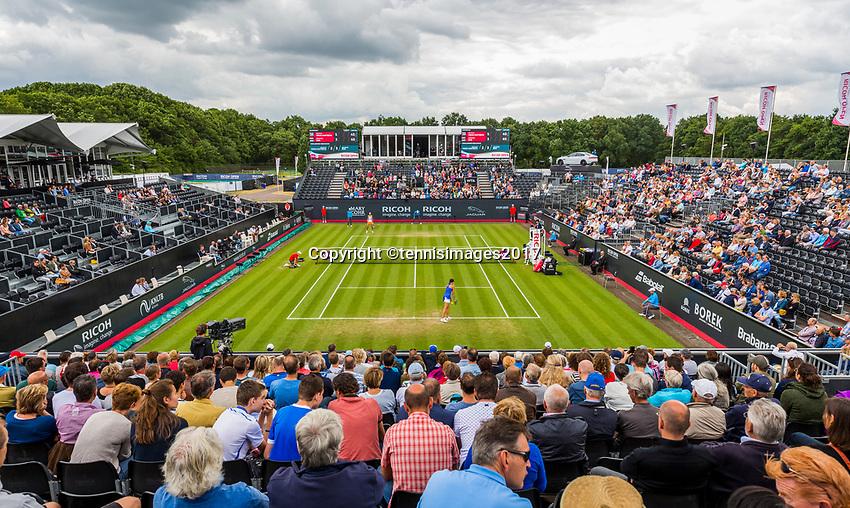 Den Bosch, Netherlands, 16 June, 2017, Tennis, Ricoh Open,  Overall view Centercourt with Arantxa Rus far side<br /> Photo: Henk Koster/tennisimages.com