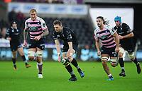 Ospreys' Dan Biggar gathers the ball<br /> <br /> Photographer Kevin Barnes/CameraSport<br /> <br /> Guinness Pro14 Round 13 - Ospreys v Cardiff Blues - Saturday 6th January 2018 - Liberty Stadium - Swansea<br /> <br /> World Copyright &copy; 2018 CameraSport. All rights reserved. 43 Linden Ave. Countesthorpe. Leicester. England. LE8 5PG - Tel: +44 (0) 116 277 4147 - admin@camerasport.com - www.camerasport.com