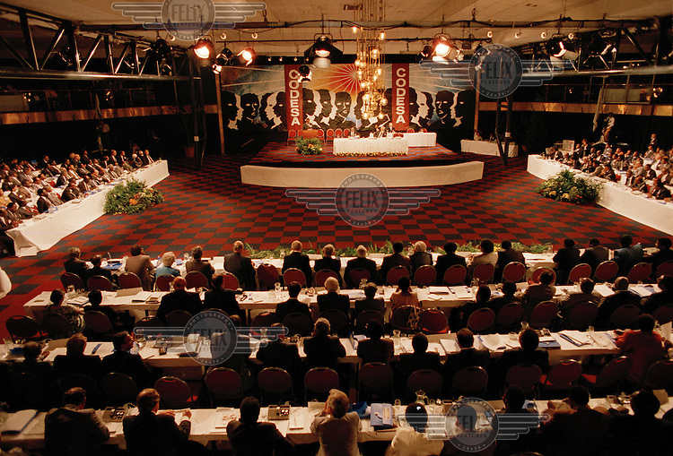 CODESA - Convention for a Democratic South Africa - negotiations at the World Trade Centre, aimed at establishing a new system of government at the end of apartheid.