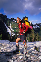 Sylvain Antheaume on his way to Mount Shuksan, Cascades, USA, June 2009