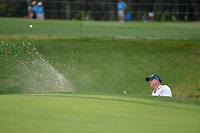 Jonathan Byrd (USA) hits from the trap on 1 during day 2 of the Valero Texas Open, at the TPC San Antonio Oaks Course, San Antonio, Texas, USA. 4/5/2019.<br /> Picture: Golffile | Ken Murray<br /> <br /> <br /> All photo usage must carry mandatory copyright credit (&copy; Golffile | Ken Murray)