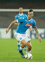 Napoli's Marek Hamsik  during the Europa  League Group D soccer match between SSC Napoli and Midtjylland at the San Paolo  Stadium in NaplesNovember 05, 2015