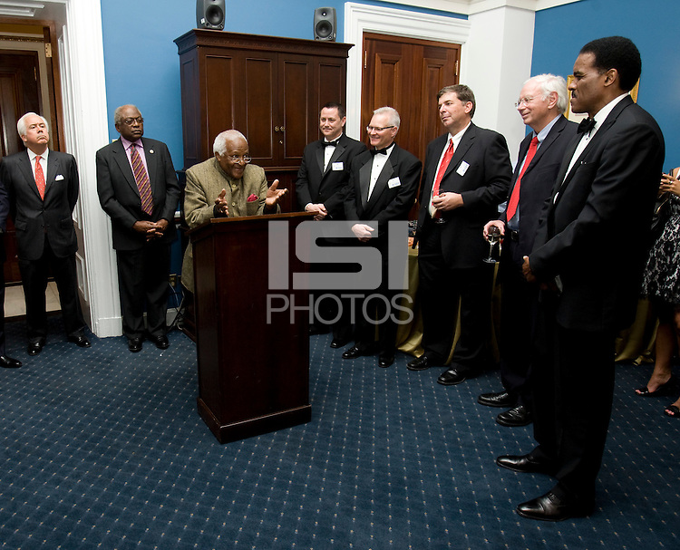 James Clyburn, Desmond Tutu, Dr. Klaus Schiaroth, Ed Foster-Simeon. The 2010 US Soccer Foundation Gala was held at City Center in Washington, DC.