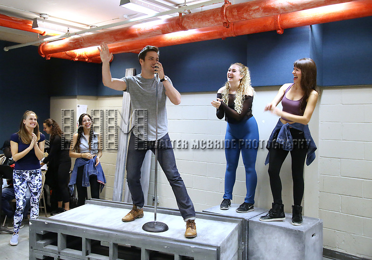 Josh Tolle and cast perform in the World Premiere musical presention of his show 'A World Apart' presented by the New York Musical Festival & New YorkRep on July 24, 2017 at the Acorn Theatre Studios at Theatre Row in New York City.
