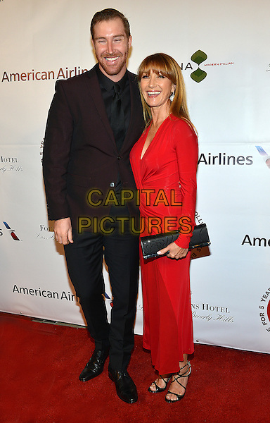 26 February 2014 - Los Angeles, California - Jane Seymour and her son Sean M. Flynn. TheWrap.com Pre-Oscar Party held at Culina Restaurant at the Four Seasons Hotel. <br /> CAP/ADM/CC<br /> &copy;CC/AdMedia/Capital Pictures